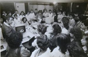 Alberto Jacob palestra para estudantes na redação de O Globo
